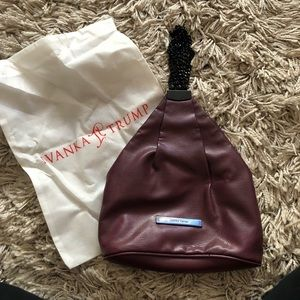 Burgundy Ivanka Trump handbag